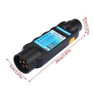 Image 5 - Ferramenta durável do teste da luz do circuito da fiação do verificador da tomada do reboque do caminhão do carro de 12v 7 pinos para o europeu