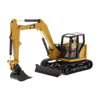 Diecast Masters #85596 1/50 Scale Caterpillar 308 CR Next Generation Mini Hydraulic Excavator CAT Engineering Truck Model Cars