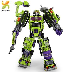 Image 4 - 6 в 1, Детский конструктор «робот»