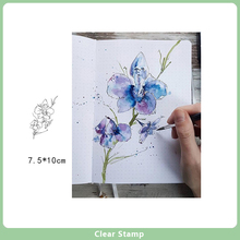 transparent rubber clear stamps for scrapbooking diy wedding photo album cards making decoration silicone stamping seals Flowers Clear Stamps / Silicone Seals Roller Stamp for DIY Scrapbooking Making Photo Album Card Decoration New Rubber Stamps