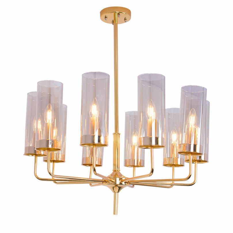 Postmodern Luxury Glass Led Chandeliers Light Fixture Blue Amber Lustre E14 Arms Chandelier Hanglamp For Bedroom Shop Hotel