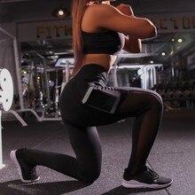 BEFORW Sexy Pocket High Waist Mesh Push Up Leggings Women Fitness Workout Activewear Patchwork