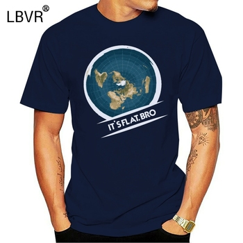Flat Earth T-Shirt: Flat Bro Flat Earther Society Conspiracy2018 New 100% Cotton T-Shirts Men T Shirt Clothing Plus Size Tees