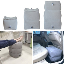 Inflatable Height Adjustable Kids Flight Footrest Pillow Two Valves Design Travel Foot Pad Rest