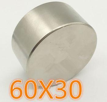 N52 1pc Dia 60 #215 30 okrągły magnes silny magnes ziem rzadkich neodymowy 60mm x 30mm hurtownia 60*30 tanie i dobre opinie CN (pochodzenie) NONE permanentny Przemysłowy magnes Magnes neodymowy Piłka