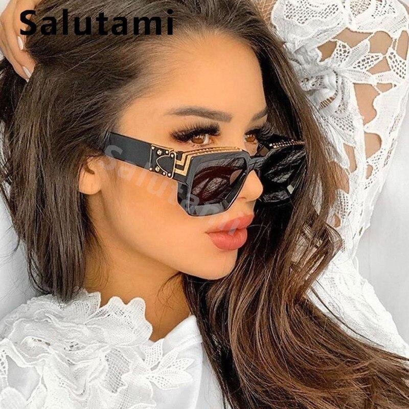 Vintage Square Sunglasses Women  2020 New Luxury Brand Black Sun Glasses Men Oversize Eyewear Female Elegant Shades White  Red