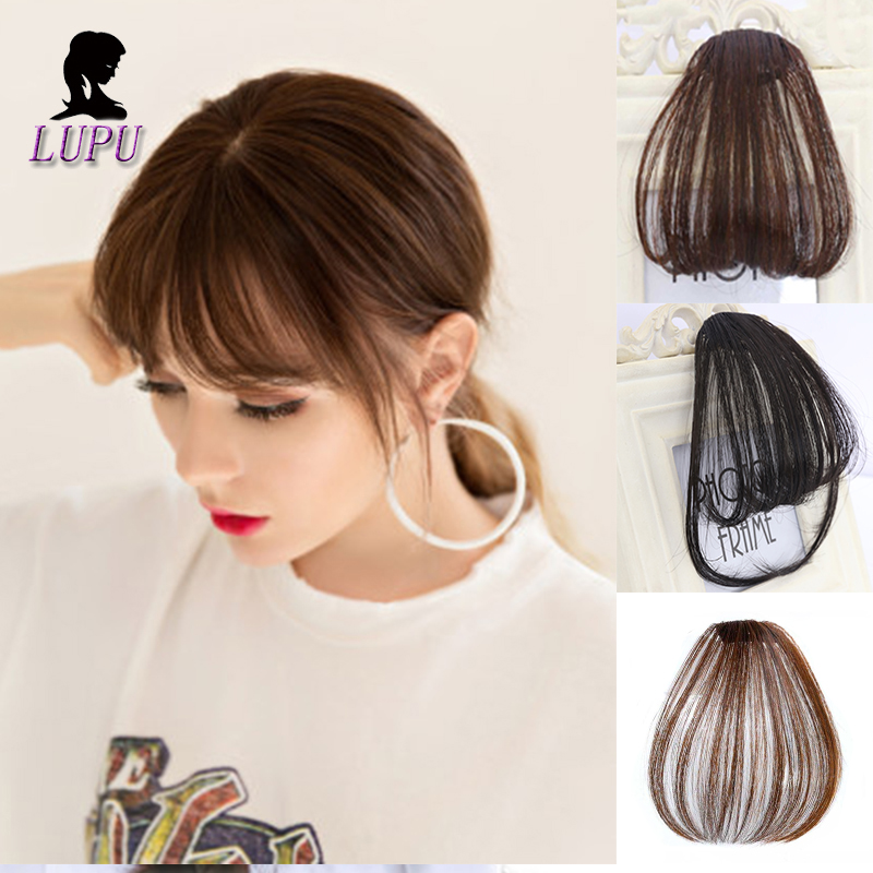 LUPU WIG Clip In Bangs Synthetic Fake Fringe Hairpieces Real Natural Color High Temperature Fiber Front Hair Bangs