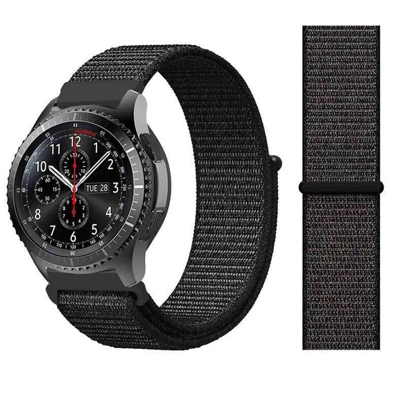 22 20mm  Nylon Watch Strap For Samsung Galaxy 42/46mm Gear S3/sport/S2 Classic Watchband Nylon Sport Loop Band