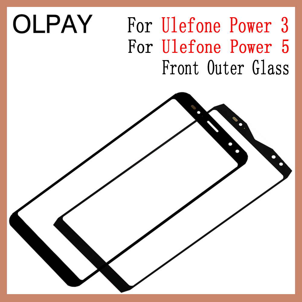 Phone Panel Front Outer Glass 6.0 Inch  For Ulefone Power 3 5 Touch Screen Top Replacement LCD Outer Lens Glass