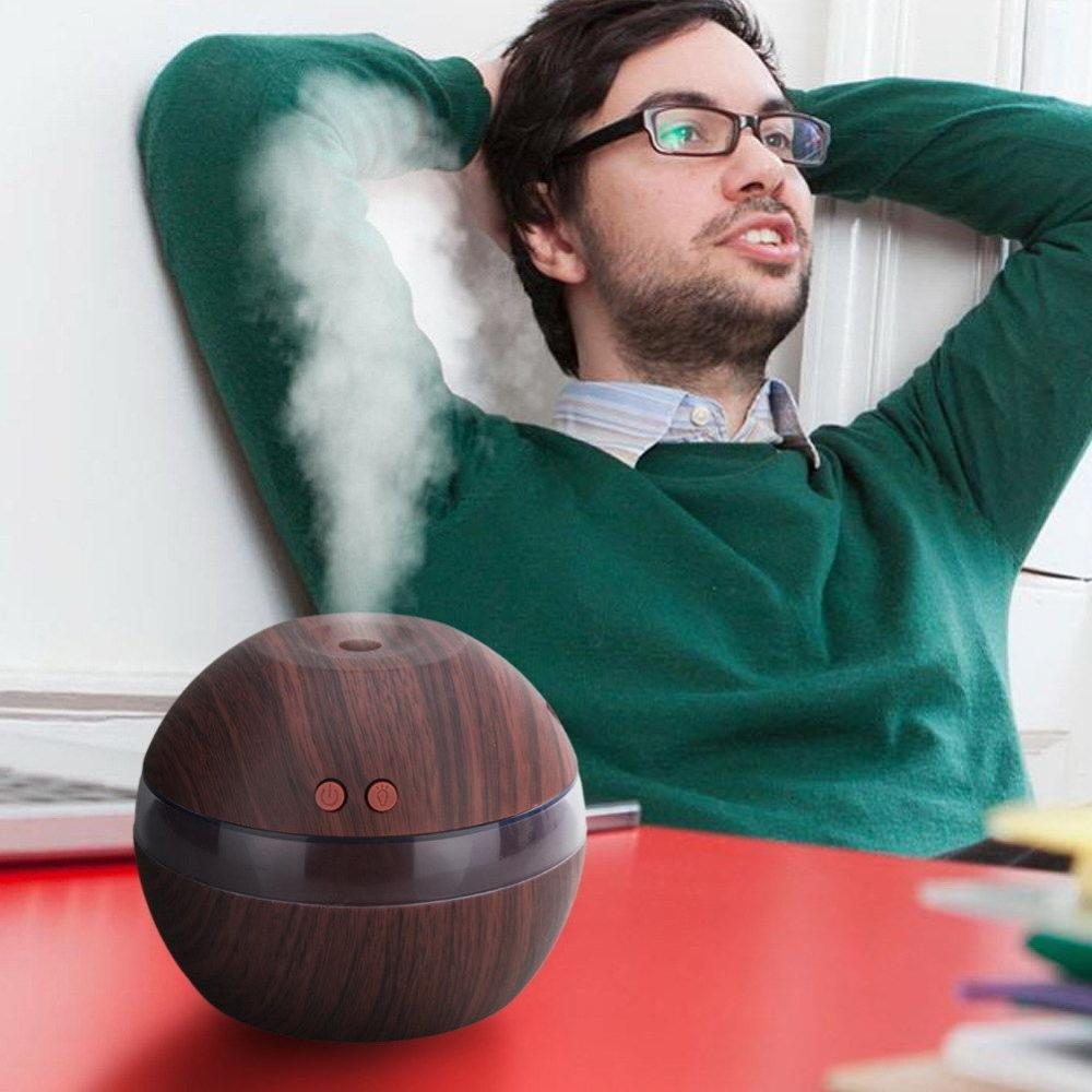 USB 003 Electric Ultrasonic Air Humidifier Aroma Diffuser Essential Oil Aromatherapy 7 Color LED Cool Mist Maker For Office Home