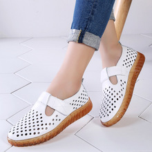 Flat shoes women genuine leather fashion casual slip on flat shoes women #8217 s sneakers summer walking shoes ladies soft flat shoes cheap ZZPOHE Basic Cow Leather Rubber Hook Loop Fits true to size take your normal size Sewing Spring Autumn Solid Adult 1688 quan zhou ai hui er xie chang P1968-1