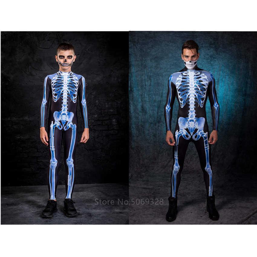 Halloween Costumes 2020 Zombie Skull Scary 2020 Halloween Costume for Kids Skeleton Adult Bone