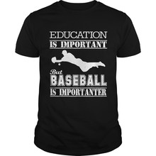 Mannen t-shirt Baseball Is Importanter T-shirt T-Shirt cool cool vrouwen T-Shirt tees top(China)