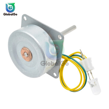 Micro Three Phase AC Wind Generator Turbines Brushless Motor Hand Cranked 3-24V 0.1A-1A 0.5-12W RPM3000-6000 LED