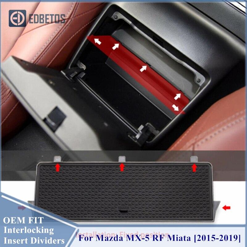 Para caixa de luva organizador mazda MX-5 rf miata 2015 2016 2017 2018 2019 braço armazenamento secundário centro console bandeja para mazda mx5