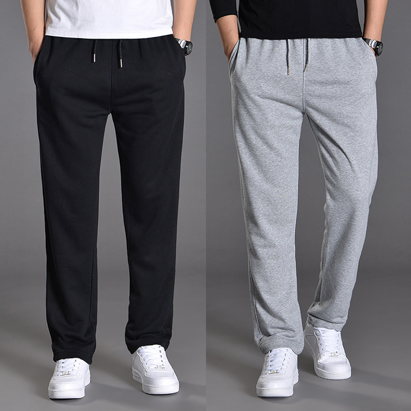 Athletic Pants Men Loose Straight Casual Pants Spring And Autumn Students Sweatpants Trend Versatile Fat Spring Pants Men's