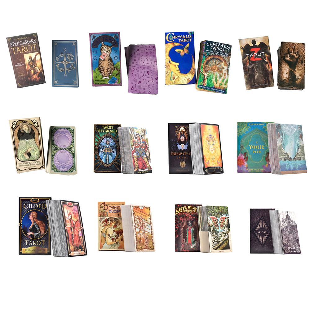 12 Style Tarot Cards Deck Playing Card Board Game Divination Tarot Table Cards Playing Card Holiday Family Party Gift Wholsale