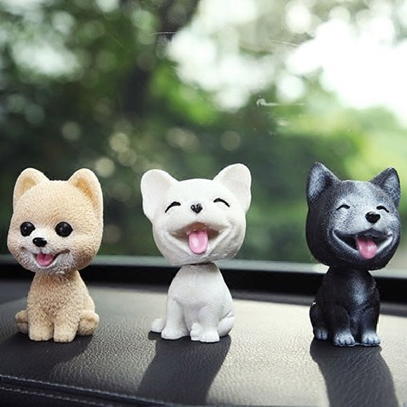 Забавная Вибрирующая головка для собаки, милая фотокамера, украшение для приборной панели автомобиля, украшение интерьера автомобиля