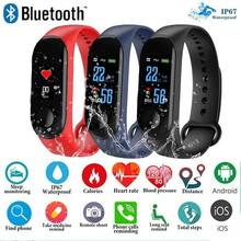 Wearable Devices Fitness Bracelet Blood Pressure Track Heart Rate Monitor IPS Screen Smart Wristband Waterproof Wristbands(China)