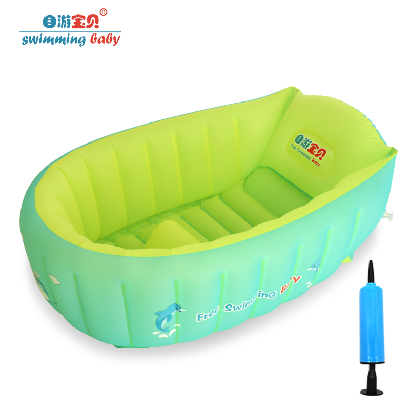 Large Portable Folding Kid Child Bathtub Inflatable Baby Bath Tub Set for Newborn Infant Swimming Pool Accessories for 0-8 Years