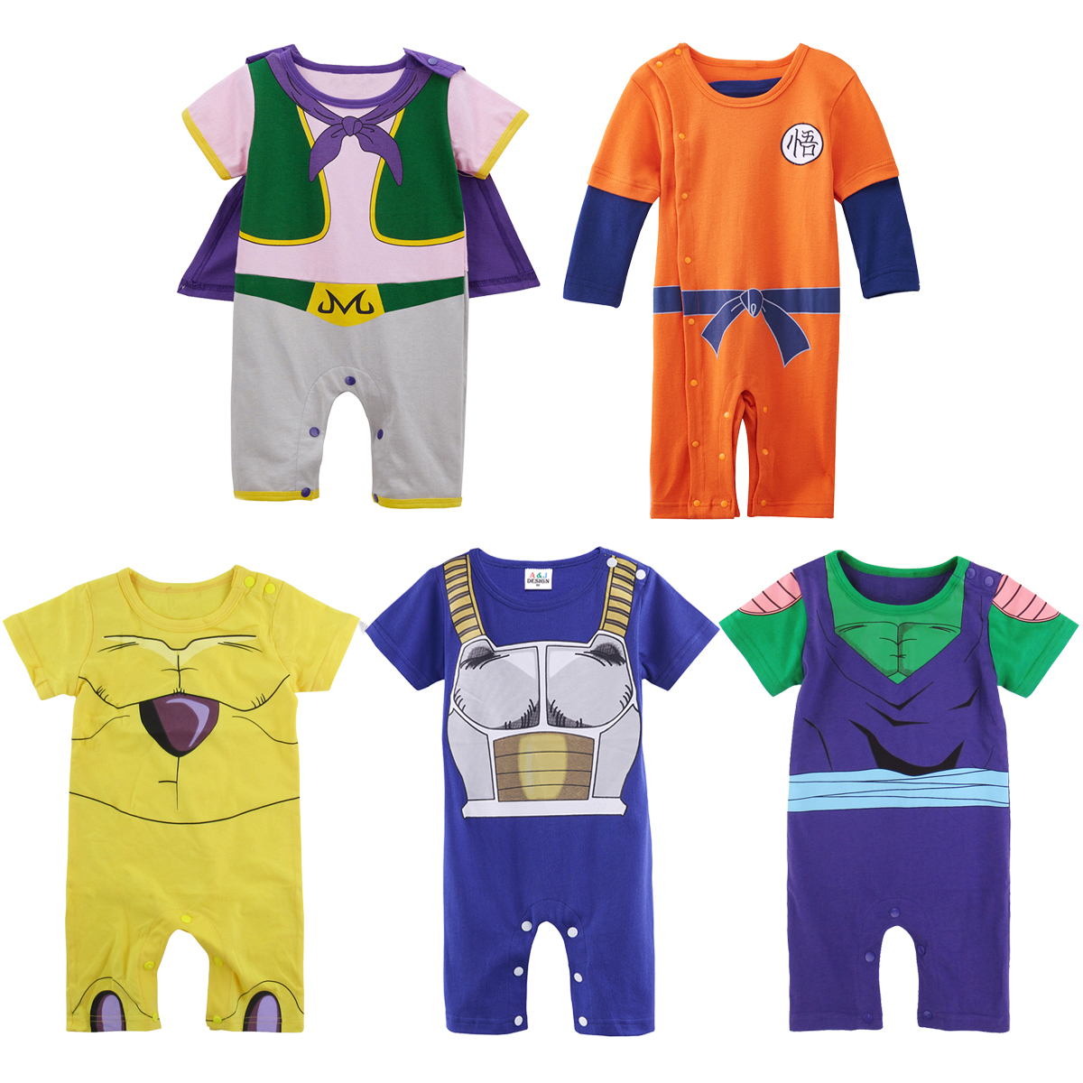 Baby Boys Dragon Ball Z Vegeta Costume Romper Newborn Playsuit Jumpsuit Outfit