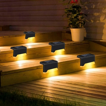 12PCS Solar Deck Light Solar Step Light Outdoor Waterproof LED Solar Fence Light For Garden Yard Patio Stairs Pathway Solar Lamp