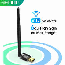 EDUP USB Wifi Adapter 150mbps High Gain 6dbi Wifi Antenna 802.11n Long Distance USB Wi-fi Receiver Ethernet Network Card for PC(China)