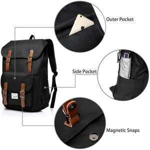 Image 3 - VASCHY 남자 배낭 학생 가방 대학 고등학교 가방 여행 가방 노트북 배낭 bookbag 여자 배낭