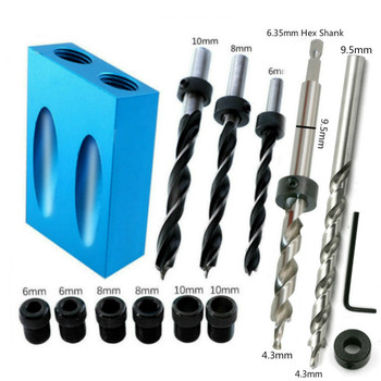 Woodworking Oblique Hole Locator Drill Bits Pocket Hole Jig Kit 15 Degree Angle Drill Guide Set Hole Puncher DIY Carpentry Tools 2 Home H25c8387544e84ef491d8234eae0b1d63N