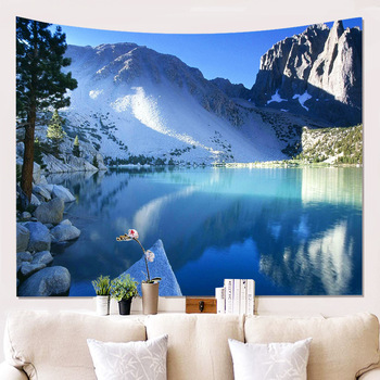 Peculiar Snow Mountain Clouds Hanging Wall Tapestry Mordern Home Decoration Tapestry Wall Fabric Houseware Dorm Decor Wall Cloth