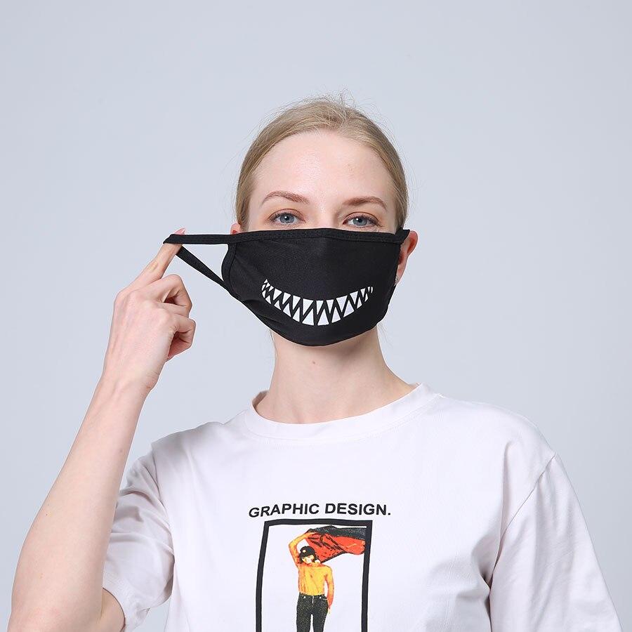 2pcs Spring Black Cotton Mouth Mask Anti Haze Dust Washable Reusable Double Layer Dustproof Mouth-muffle Nose Mask