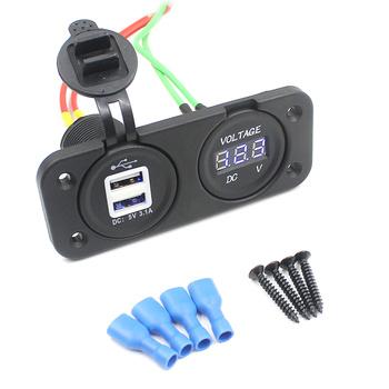 1 sztuk zasilacz przydatne samochodów podwójny Adapter USB samochód ładowarka z podwójnym portem USB wodoodporna podwójna ładowarka USB ładowarka z podwójnym portem USB dla kobiet mężczyźni uczeń tanie i dobre opinie Leorx