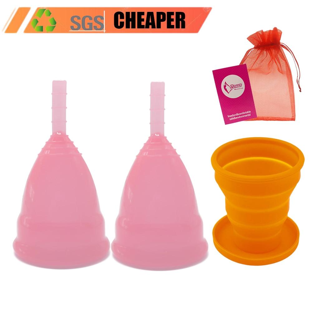 Feminine Hygiene Menstrual Cup Medical Grade Silicone Mestrual Coupe Menstruelle Women Cup Sterilizing Vaginal Menstrual Period