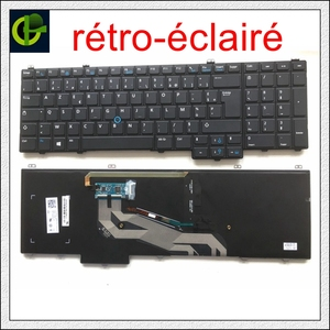 French backlit Azerty pointer Keyboard for Dell Latitude 15 5000 - E5540 5540 MP-13B86LA6698 PK130WR3A21 08RDP7 02YKXK FR(China)