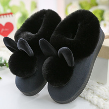 Women House Slippers Winter Plus Size 43-46 TPR Down Soft Indoor Slippers For Girls Solid Sewing Short Plush Casual Shoes Woman cheap CYFMYD Low (1cm-3cm) 0-3cm Fits true to size take your normal size SL-17133 Basic Adult Flat with 35 36 37 38 39 40 41 42 43 44 45 46