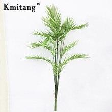 125cm 13 Gabel Künstliche Palme Tropical Palm Pflanzen Große Kunststoff Baum Blätter Gefälschte Monstera Leafs Hause Herbst Dekoration