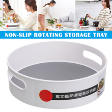 Newly Non-Skid 360 Degree Rotating Storage Container Organizer for Home Kitchen Cosmetics Seasoning XSD88