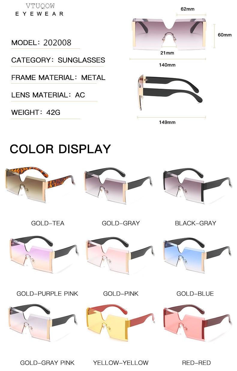 Luxury Brand Women's Sunglasses Square Sunglass Lady Designer 2021 trend Cool Vintage Retro Sun Glasses Rimless Shades For Women (2)