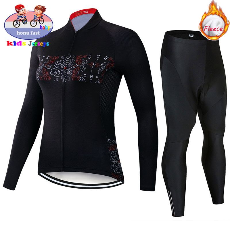 2020 Triathlon Winter Kids Long Sleeve Cycling Jersey Set Boys Cycling Clothing MTB Ropa Ciclismo Children Mountain Bike Clothes