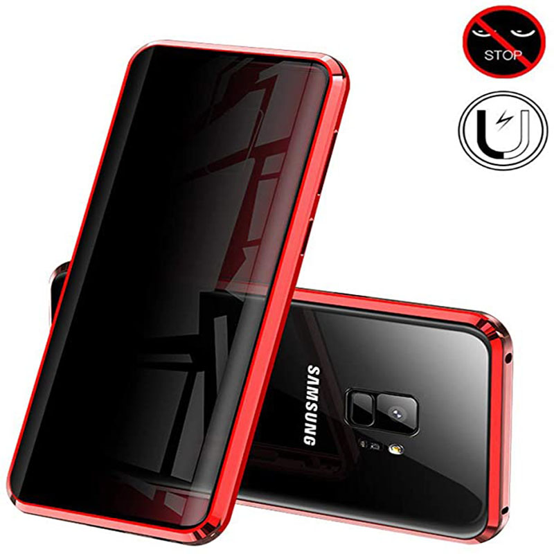 Anti-peeping Magnetic Phone Case For Samsung S10 S9 S8 S20 A71 A51 Note 10 9 8 20 Plus Lite Ultra A70 A50 A30 A20 Privacy Shell