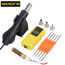WMORE Micro hot air gun 8858 BGA rework soldering station 700W 220V Heat gun Hot Air Blower Ceramic Heater solder station kits 15v 1a digital display heat gun triad electric blower hot air gun soldering iron usb smd dc power supply rework solder station