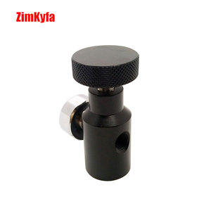 Image 2 - Paintball Fill Adaptor Co2 Compressed Air Remote On/Off Asa Adapter w/1500psi Gauge