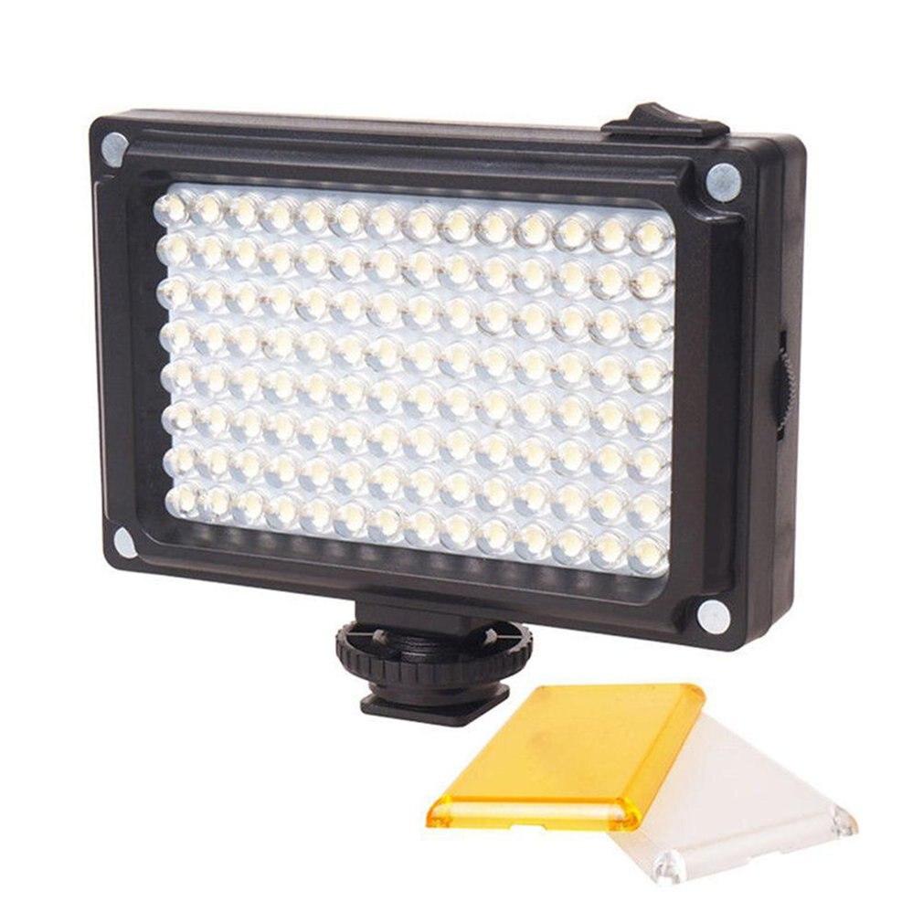 96 LED video light portable selfie fill light spotlight with hotshoe for smartphone cellphone camera.