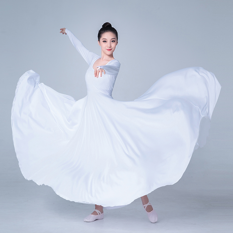 Praise Dance Dresses For Women Long-sleeved Dress Opening Modern Dance Dress Women Elastic Elegant Performance Ballet