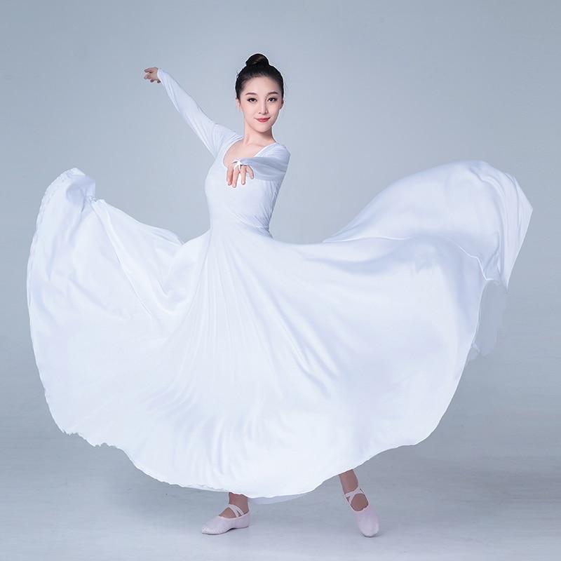 Praise Dance Dresses For Women Long-sleeved Dress Opening Modern Dance Dress Women Elastic Elegant Performance Ballet