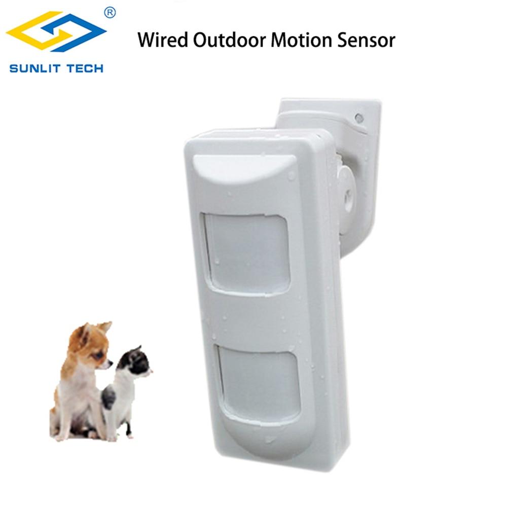 3 tecnologia com fio ao ar livre a prova dwired agua alarme detectores de movimento pet