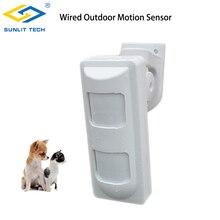 3Tech Wired Esterna Impermeabile di Allarme Rilevatori di Movimento Pet Immune/Wide Angle/Curtain PIR per la Casa di Allarme sistema di sicurezza