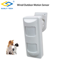 Купить с кэшбэком Wired Outdoor Waterproof Dual PIR + MW Alarm Motion Detectors Pet Friendly for Home Alarm Security System