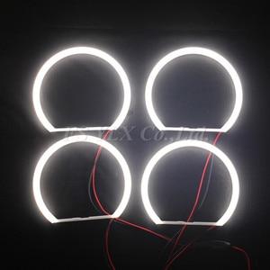 Image 4 - Ultra helle 4*131mm 3014 SMD LED Angel Eyes für BMW E39 E46 E38 E36 projektor led scheinwerfer halo ring kit weiß für bmw e39 E46