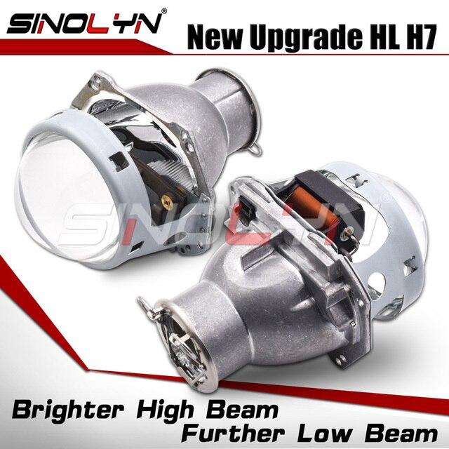 Sinolyn פנס עדשות H7 LED 3.0 עבור Hella 3r H7 D2S D2H HID הלוגן bi קסנון מקרן עדשת רכב אורות אביזרי Retrofit